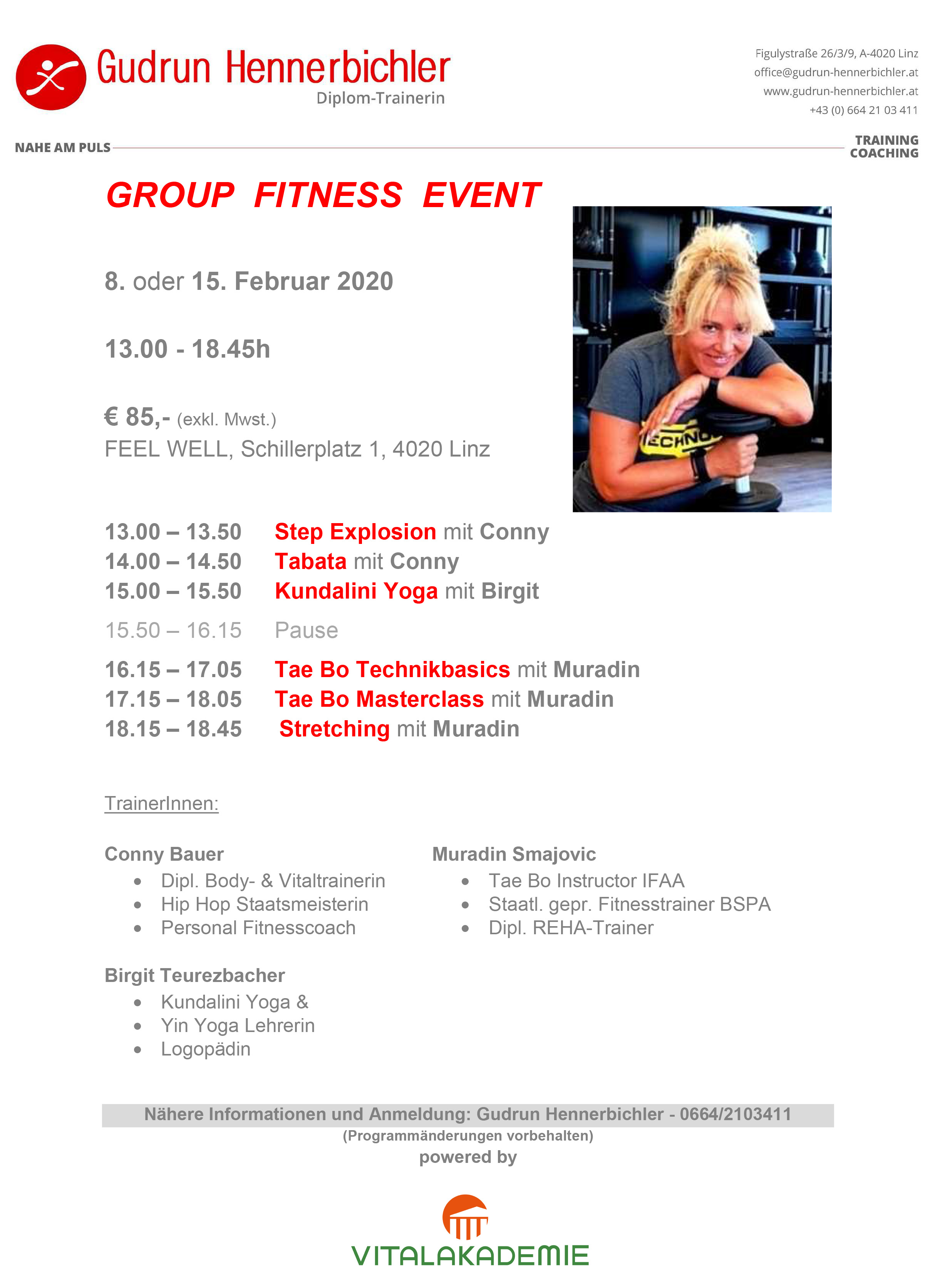 Group Fitness Event