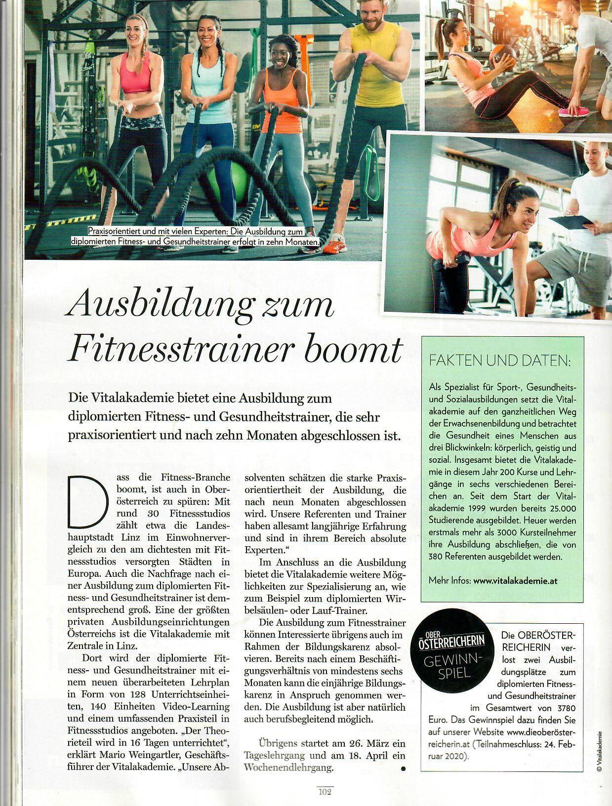 Die Oberösterreicherin Fitness